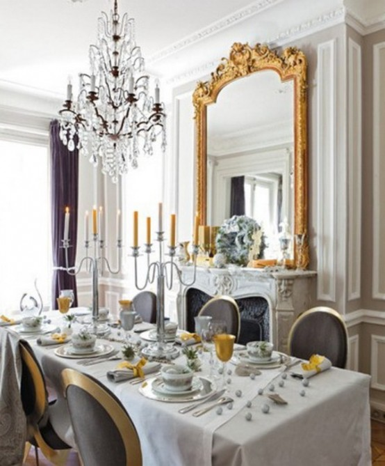 48 Charming French Dining Room Design Ideas - DigsDigs