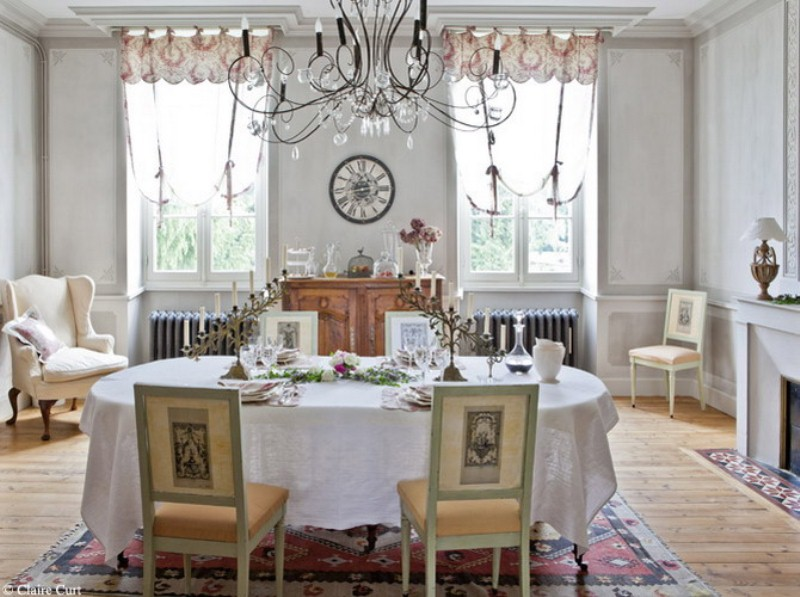 48 charming french dining room design ideas digsdigs Deco romantique salon