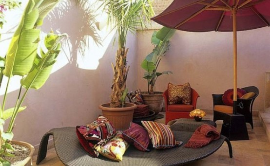 Charming Morocco Style Patio Designs