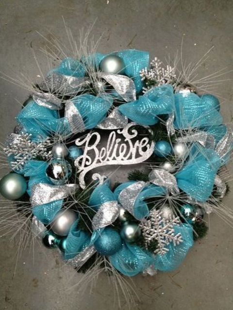 charming silver and blue christmas decor ideas - Blue And Silver Christmas Decorations