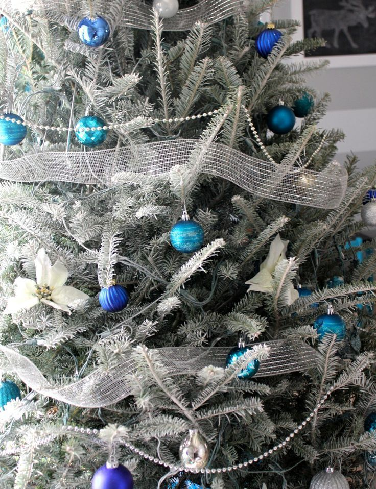 Christmas Tree Blue And Silver Theme : Silver and blue d?cor ideas for christmas new year