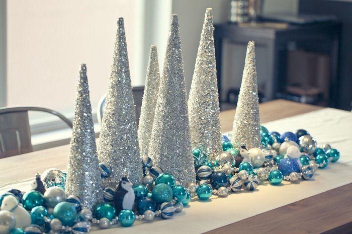 Charming silver and blue christmas decor ideas 30 jpg