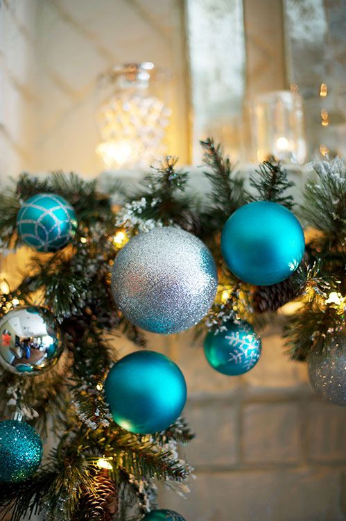 blue and silver christmas tree decorations ideas photo24 - Blue And Silver Christmas Decorating Ideas