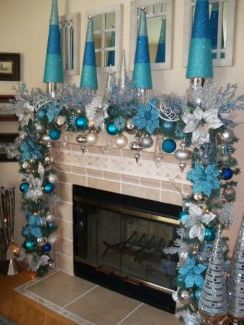 35 silver and blue d cor ideas for christmas and new year digsdigs