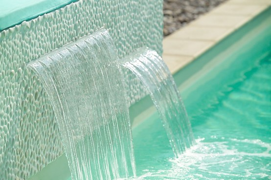 Charming Swimming Pool Fountain – PowerFall By Zodiac Pooclare