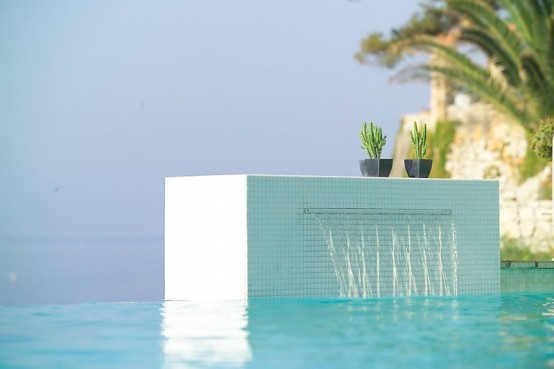 Charming Swimming Pool Fountain Powerfall By Zodiac Pooclare