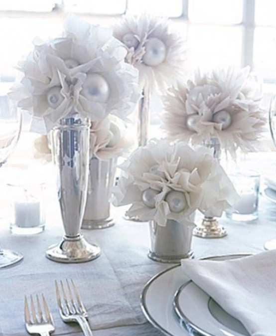 75 charming winter centerpieces digsdigs White christmas centerpieces