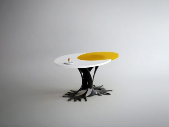 Cheerful Egg-Inspired Table For People With Imagination
