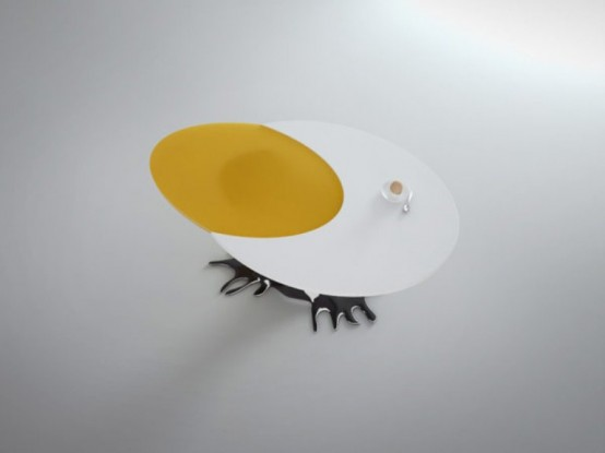 Cheerful Egg Inspired Table For People Wih Imagination