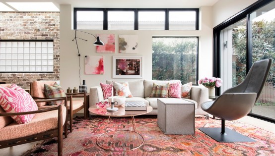Cheerful Girlish Loft In All Shades Of Pink