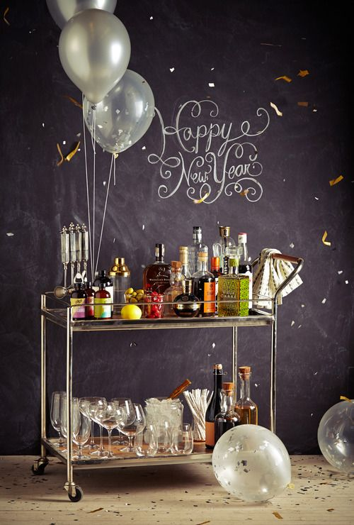New Year Party Decoration Ideas At Home Part - 16: 34 Cheerful New Year Party Décor Ideas