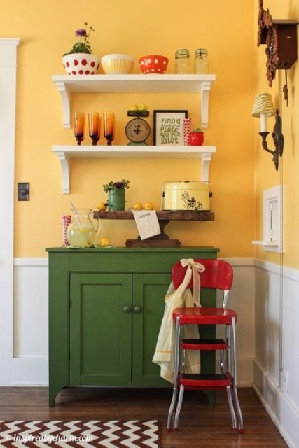 Yellow Green Kitchen : ... Summer Interiors: 50 Green and Yellow Kitchen Designs - DigsDigs