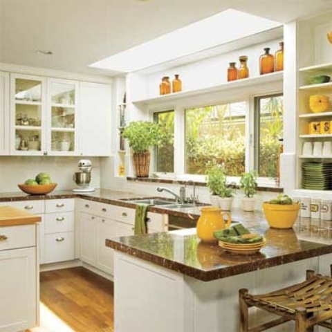 Cheerful summer interiors 50 green and yellow kitchen for Summer kitchen plans