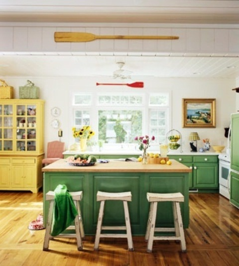 green and yellow kitchen ideas the code