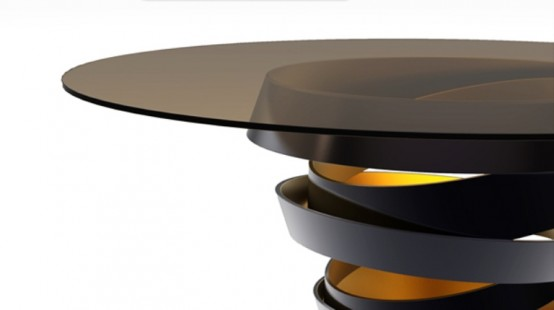 chic and elegant side table 3 554x310 Chic And Modern Dining Table
