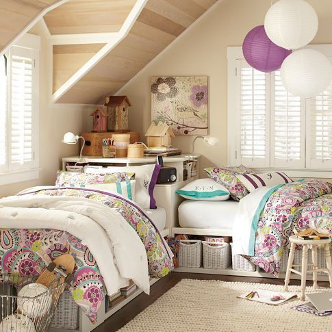 Picture Of chic and inviting shared teen girl rooms ideas  14