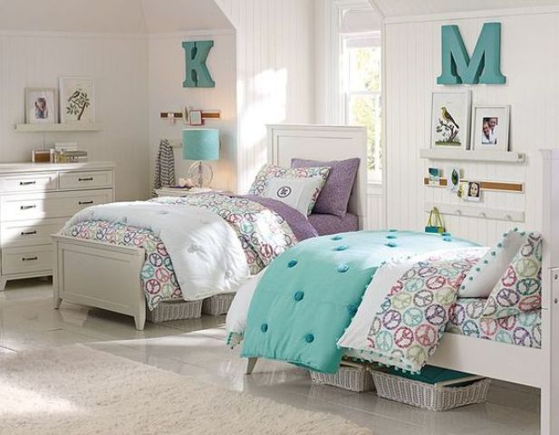 Picture Of chic and inviting shared teen girl rooms ideas  18