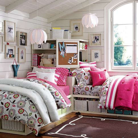 22 chic and inviting shared teen girl rooms ideas digsdigs for Unisex bedroom inspiration