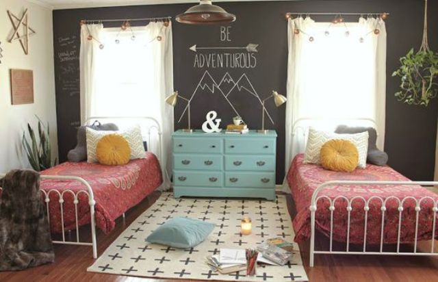 22 chic and inviting shared teen girl rooms ideas digsdigs - Mature teenage girl bedroom ideas ...