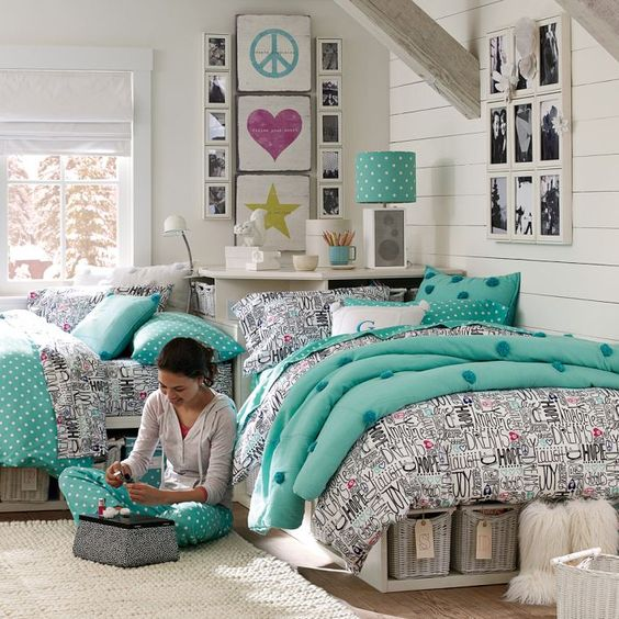 Cute Shared Room: 22 Chic And Inviting Shared Teen Girl Rooms Ideas