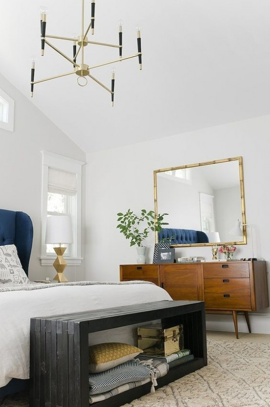 30 chic and trendy mid century modern bedroom designs digsdigs Modern chic master bedroom