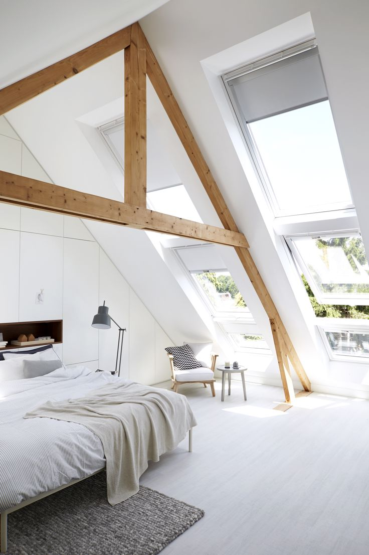Picture Of chic bedroom designs with exposed wooden beams  2
