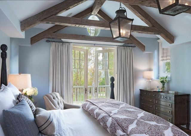 Picture Of chic bedroom designs with exposed wooden beams  23