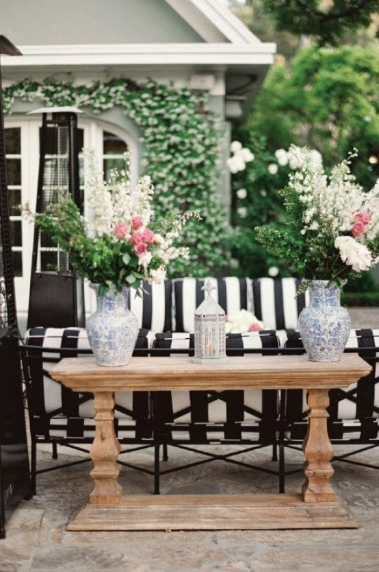 30 Chic Black And White Outdoor Es
