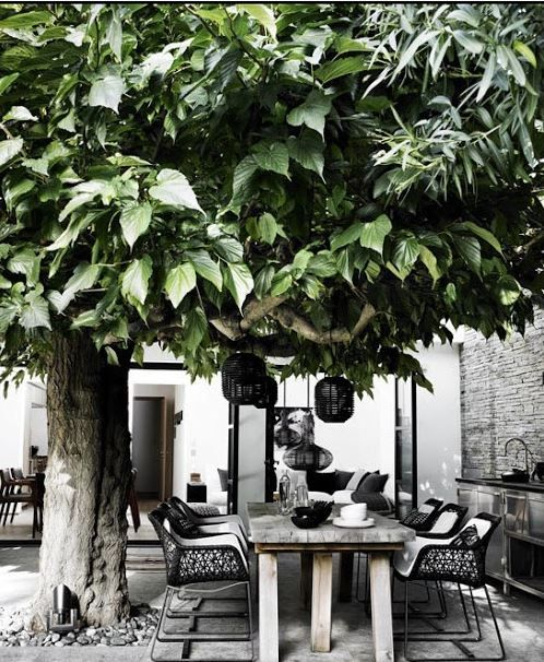 30 Chic Black And White Outdoor Spaces