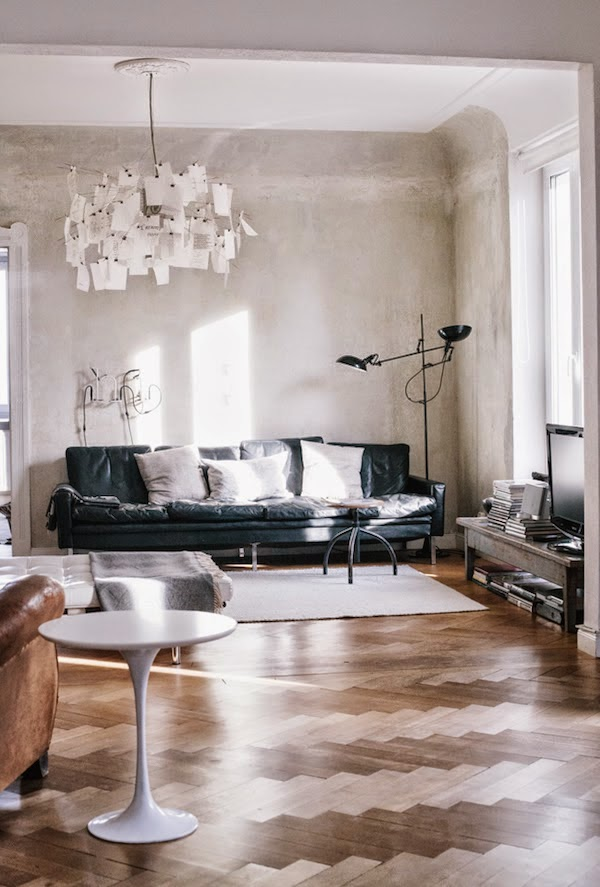 Chic Industrial Apartment In Warm Neutral Shades
