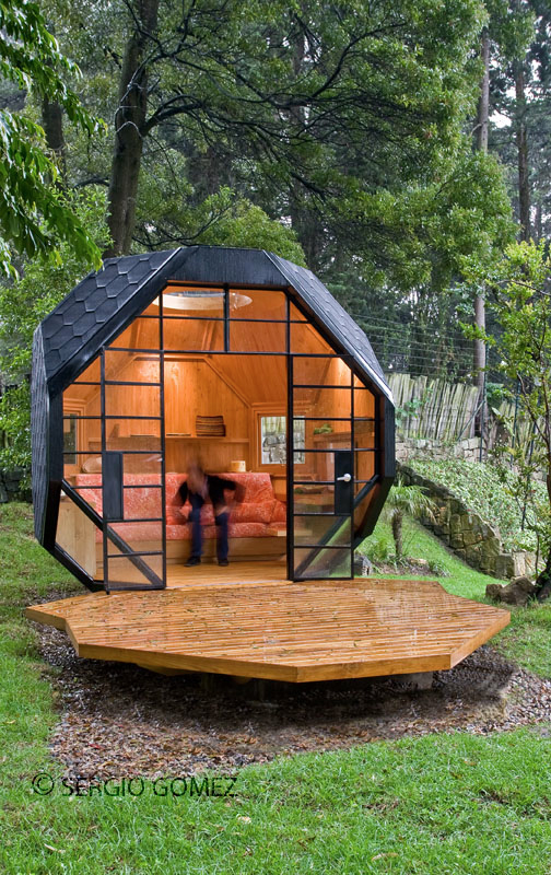 Cool Child Playhouse In a Back Yard – Polyhedron Habitable by Manuel Villa