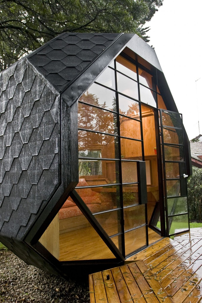 Cool Child Playhouse In A Back Yard Polyhedron Habitable