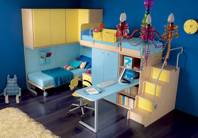 60 cool teen bedroom design ideas digsdigs for Cool blue bedroom ideas