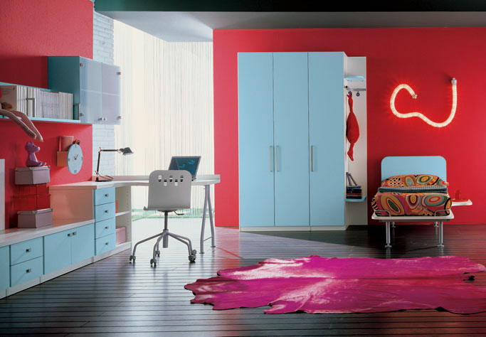 60 cool teen bedroom design ideas digsdigs for Funky teenage girl bedroom ideas