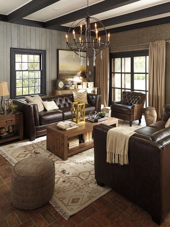 Dark Living Room Ideas: Chocolate Shades For Home Decor: 31 Yummy Ideas