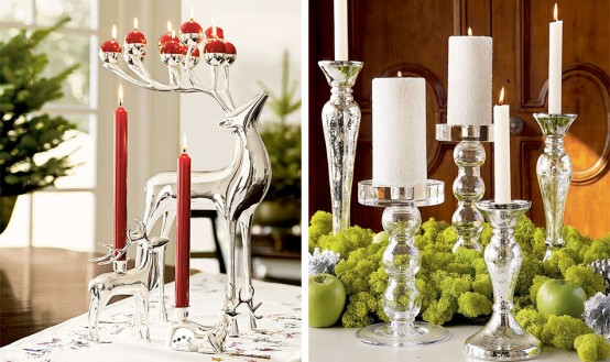 Christmas candles holders