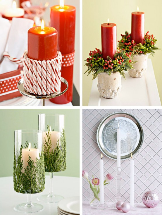 Christmas candles holders design