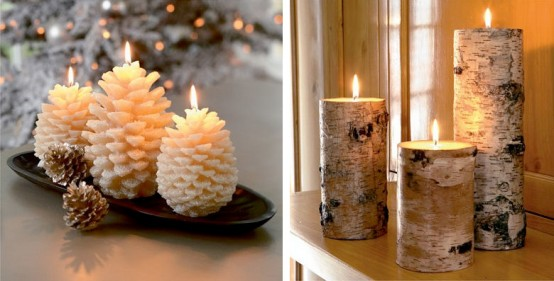 Close to nature Christmas candles