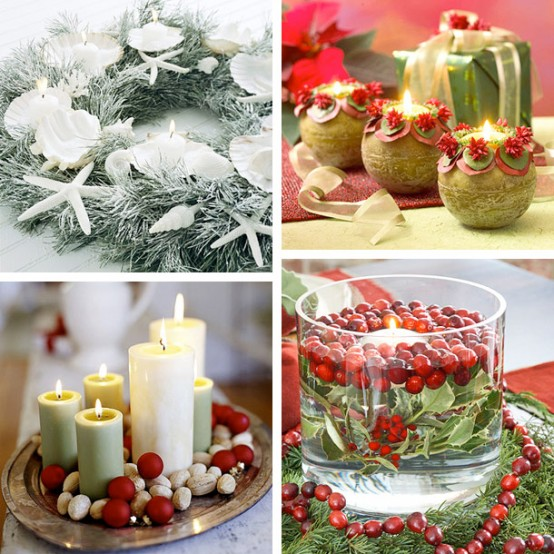 Christmas candles ornaments