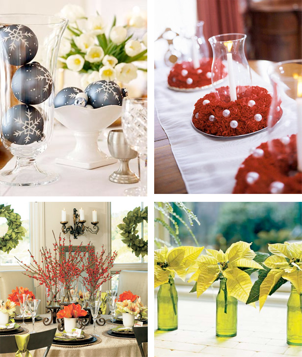 50 great easy christmas centerpiece ideas digsdigs Small christmas centerpieces