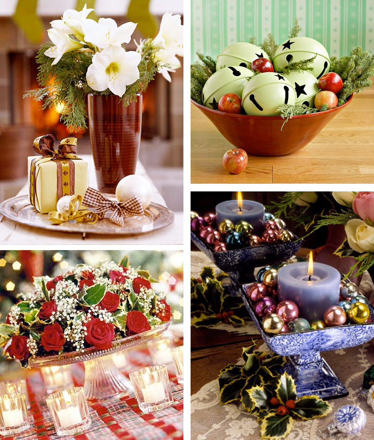 50 great easy christmas centerpiece ideas digsdigs Christmas decorating themes