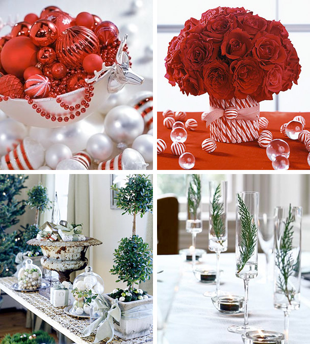 50 great easy christmas centerpiece ideas digsdigs - White Christmas Flower Decorations