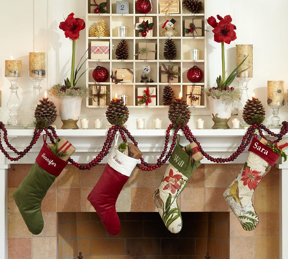 Holiday decorating 2010 by pottery barn digsdigs for Christmas house decorations