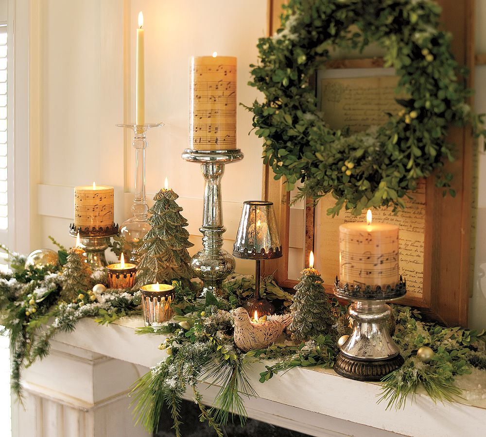Holiday decorating 2010 by pottery barn digsdigs for Classy xmas decorations