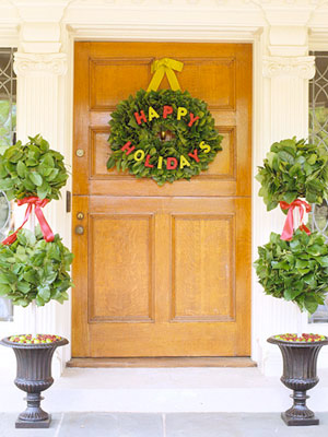 christmas happy wreath