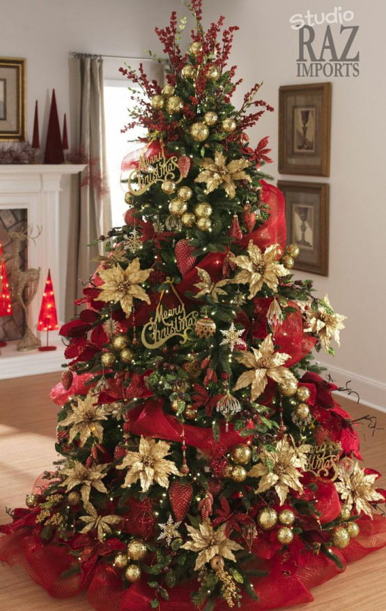 35 Christmas Décor Ideas In Traditional Red And Green - DigsDigs