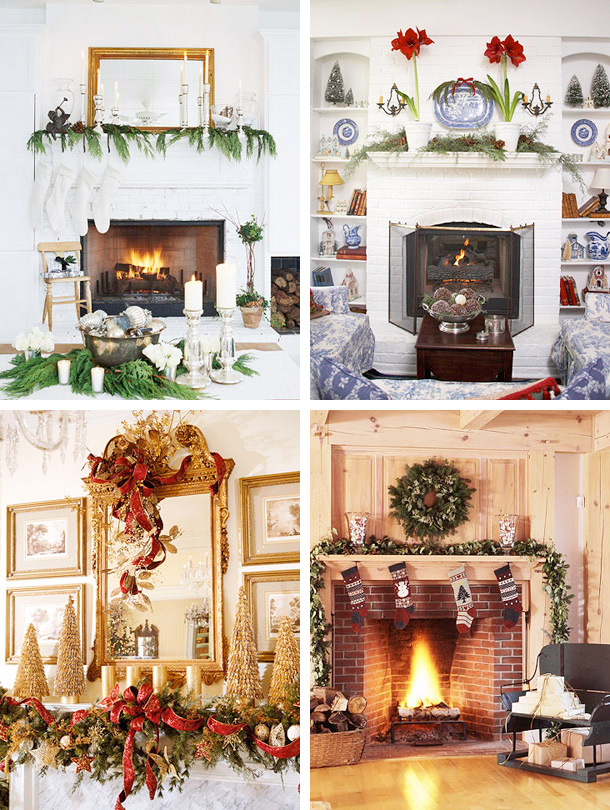 33 mantel christmas decorations ideas - Fireplace Mantel Christmas Decor