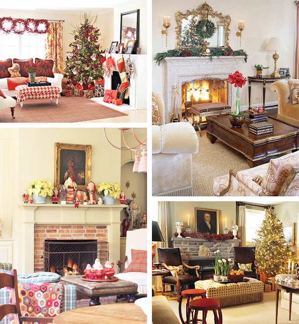 33 mantel christmas decorations ideas digsdigs - Christmas Fireplace Decorating Ideas