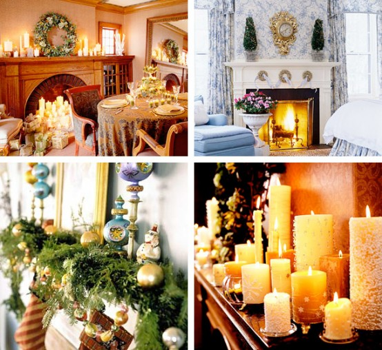 christmas mantel fireplace decoration