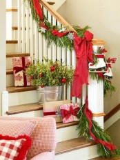Christmas Stairs Decoration Ideas